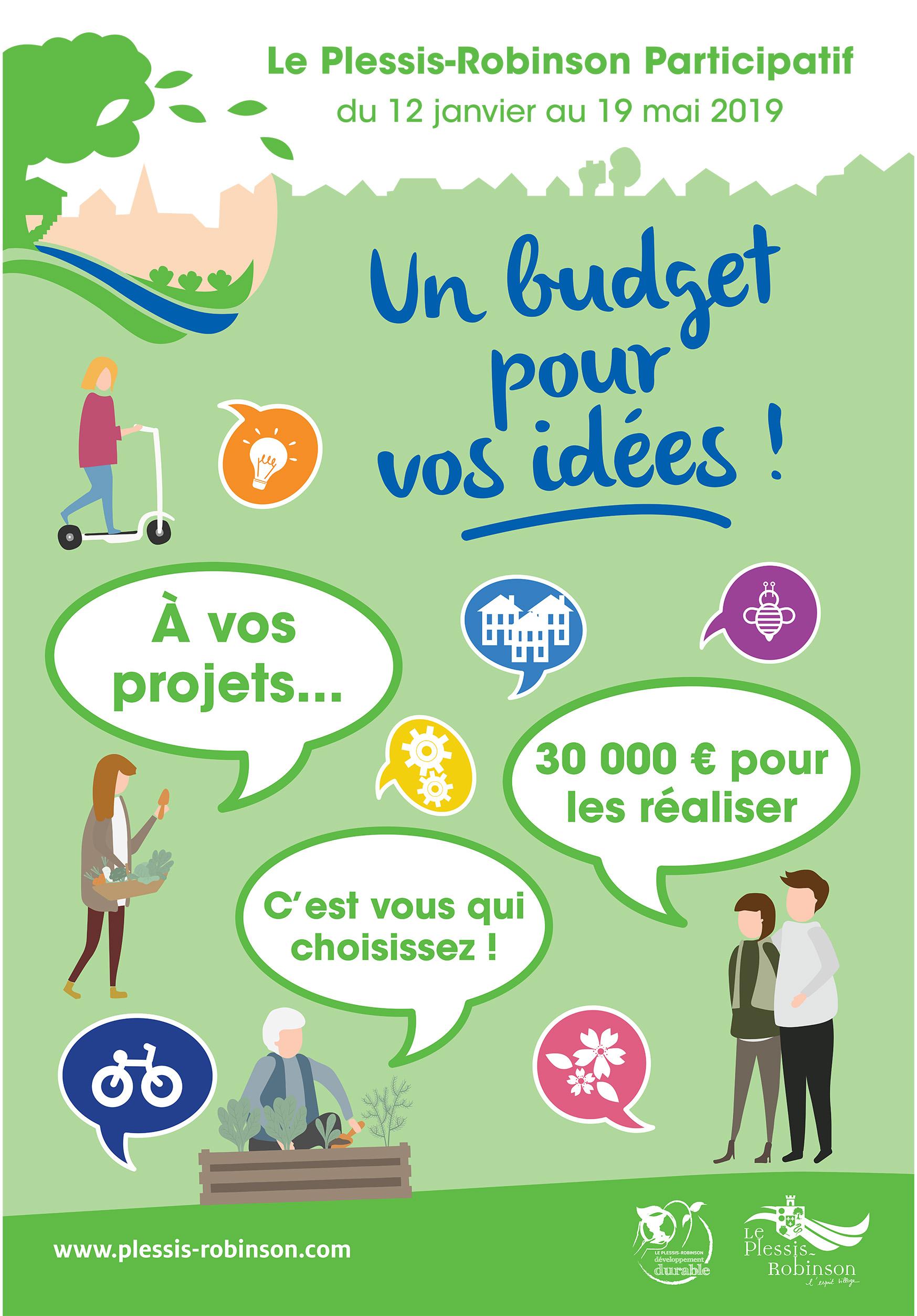 Le Plessis-Robinson participatif : Un budget pour vos idées