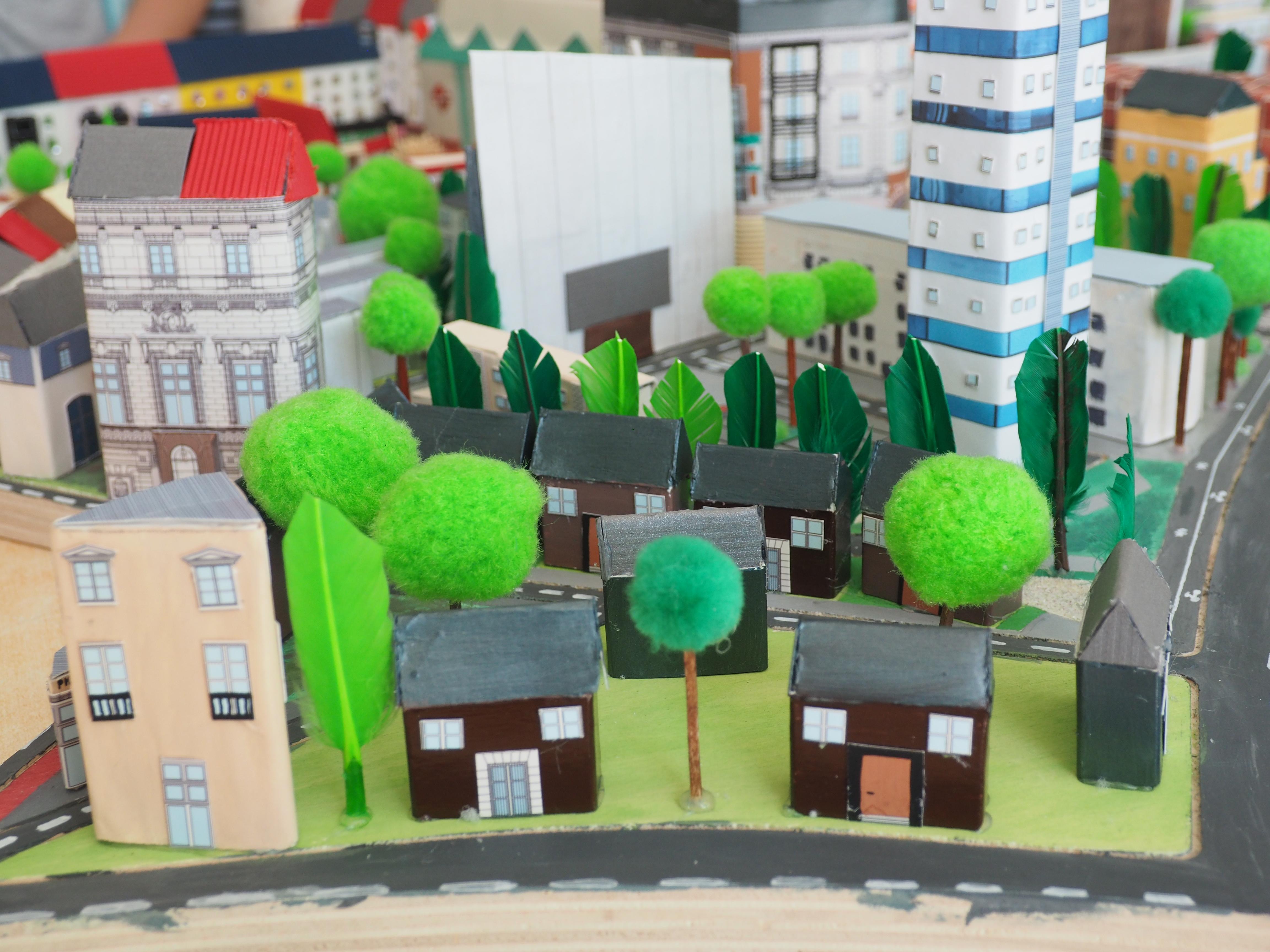 La maquette de « La Ville Verte de demain »